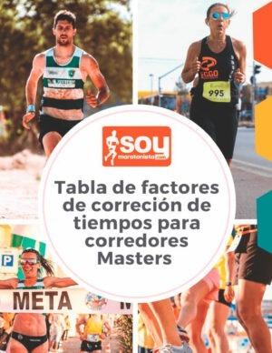 Tabla de factores de corrección de tiempos para corredores